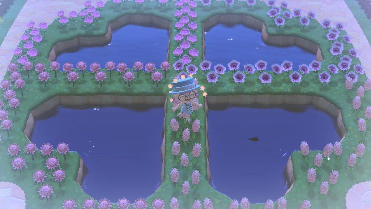 クローバー 池 あつ森
